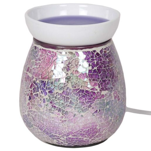 Purple Crackle Electric Wax Melt Burner